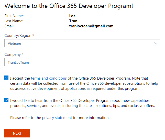 Đăng ký Microsoft Office 365