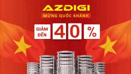 AZDIGI mừng quốc khánh 2/2019 khuyến mãi giảm 40%