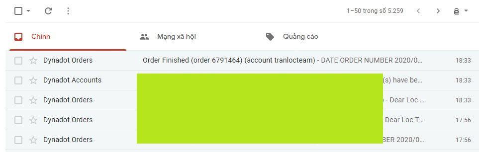 xác nhận transfer tên miền về dynadot