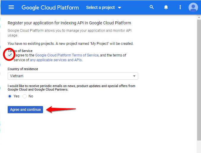 Cách sử dụng Google API Lập chỉ mục trang Web ngay lập tức