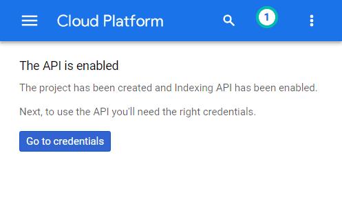 Tạo Google Indexing API