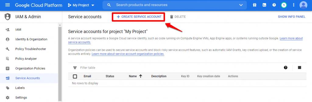 Google Indexing API | Create Service Account