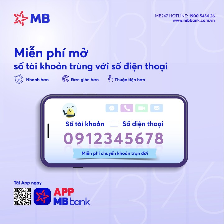 Số tài khoản giống số điện thoại