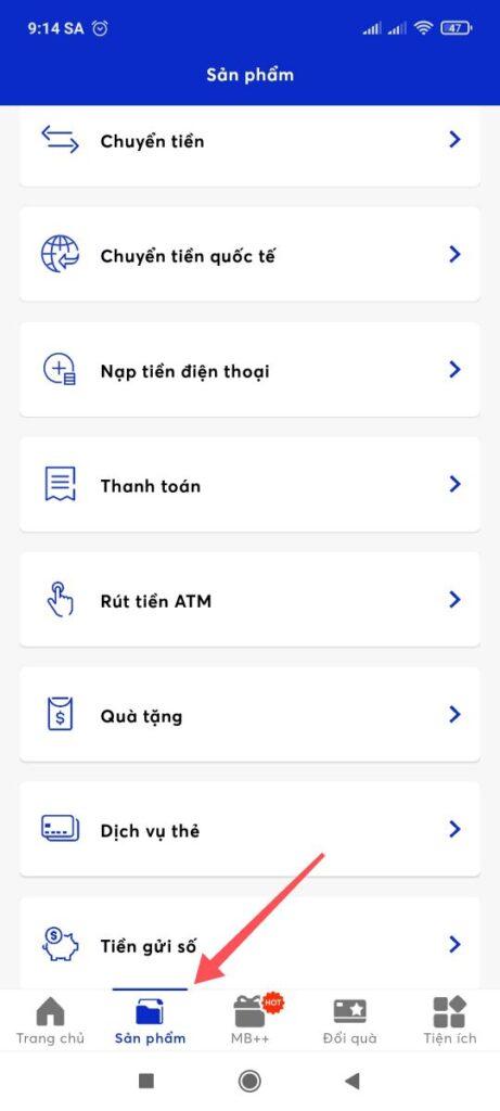 Cách rút tiền MB Bank không cần thẻ tại ATM 1