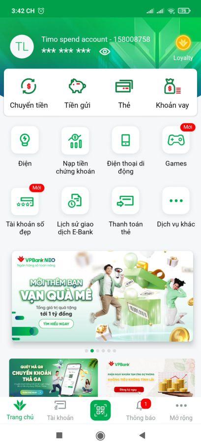 [Hướng dẫn] Kiếm tiền VPBank NEO (2021) 7