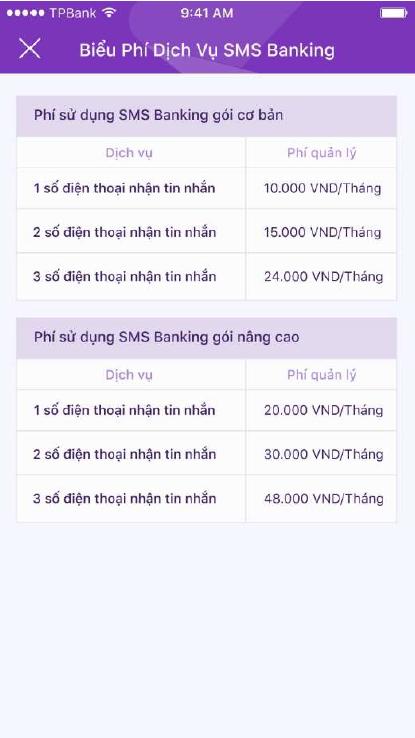 Hướng dẫn đăng ký SMS Banking TPBank 4