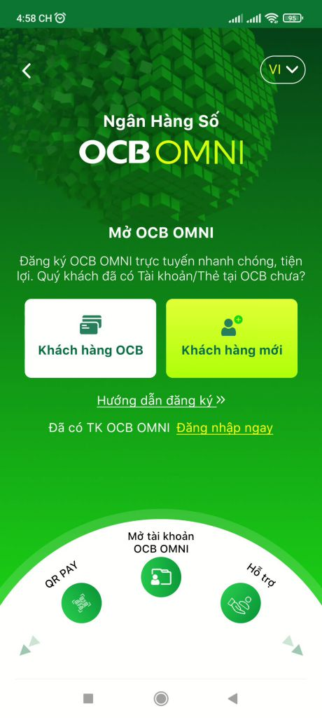 Mở tài khoản ngân hàng OCB online 3