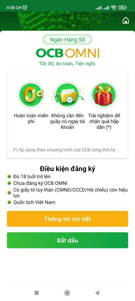 Mở tài khoản ngân hàng OCB online 4