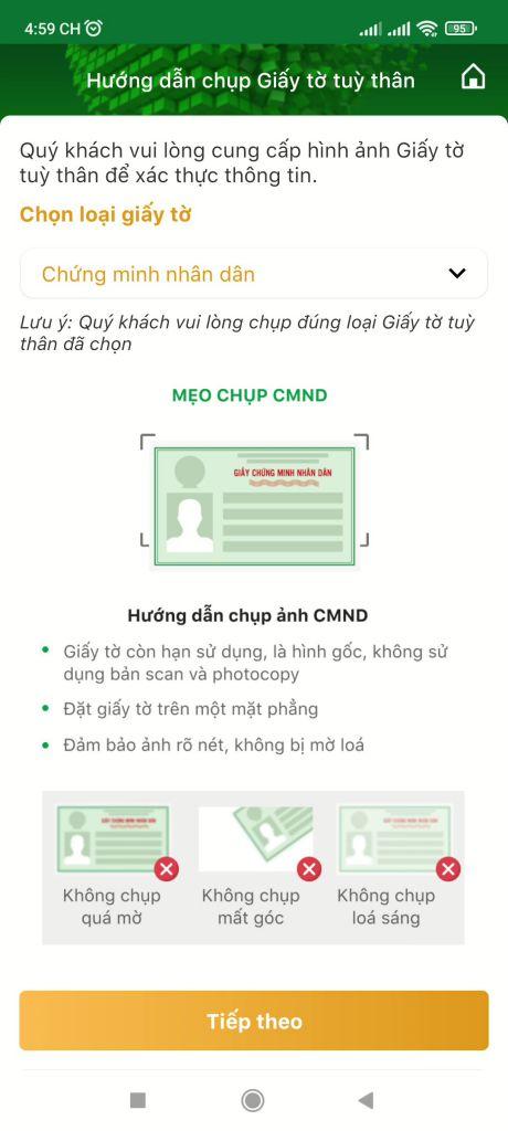 Mở tài khoản ngân hàng OCB online 7